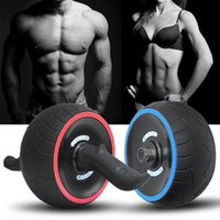 Wholesale roller mat - Fitness Abdominal Wheel AB Roller With Mat For Exercises No-noise Muscle Trainer Gym Arm Leg Body Slimming Fitness Equipment