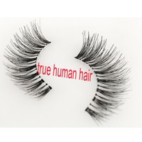 Wholesale human hair multi resale online - real human hair lashes WSP Lashes Human Hair Handmade False Eyelashes Messy Nature Eye Lashes Multi style private logo for order