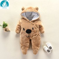 Wholesale costumes for newborn for sale - Group buy Bear Ear Hooded new born Baby Rompers For Babies Boys Girls Clothes Newborn Clothing Brands Jumpsuit Infant Costume Baby Outfit