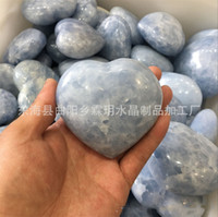 5d7c5859d6 Heart Shaped Crystal Stone Rare Energy Hand Piece Natural Blue Lover Gife  Rough Stones Ornament For Home Decoration Craft 55ly jj