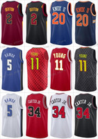 Wholesale basketball pick - College 2018 Draft Pick 2 Collin Sexton Jerseys Basketball 5 Mohamed Bamba 11 Trae Young 20 Kevin Knox 34 Wendell Carter Jerseys Stitched
