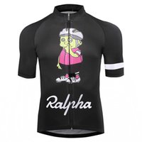 Wholesale girls plus size clothing for sale - Simpsons Ralpha bicycle Jersey bike Jerseys road track MTB race cut aero cycling jersey man men italian clothing quick dry short