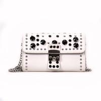 Wholesale girl stores - 2018 Rivet Chains Famous Designer Women Handbags Shoulder Bags For Girls Messenger Bag Purse Crossbody 2080 Bags Store