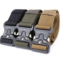Wholesale heavy duty leather - SWAT Military Equipment Knock Off Army Belt Men's Heavy Duty US Soldier Combat Tactical Belts Sturdy 100% Nylon Waistband 4.5cm