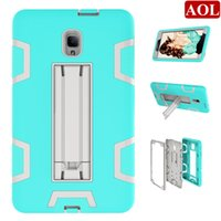 """Wholesale free tablet cases - For Samsung Galaxy Tab A 8.0"""" T385 T380 Shockproof Kickstand Defender Tablet Case Fashion Dual Tone Stand Hybrid Amor Cover DHL free"""