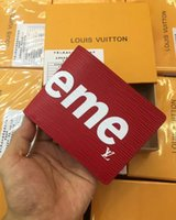 Wholesale checkbook wallets for women - Best quality 2018 Male Leather luxury wallet Casual Short designer Card holder pocket Fashion Purse wallets for men
