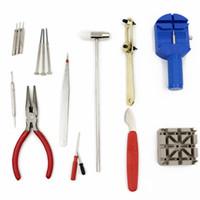 envío gratuito de electrodomésticos al por mayor-Herramientas de reparación de relojes 16 piezas Aplicable a todos los estilos Relojes Muebles para el hogar Reparación de electrodomésticos Envío gratis a nivel mundial
