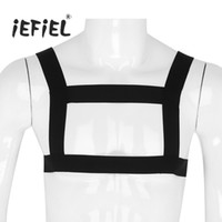 traje zentai de carne al por mayor-Mens Clásico de alta elasticidad correa para el hombro Body Harness Harness Muscle Support Brace Cinturón Punk Costumes Straps Nightclub Bondage