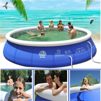 Wholesale swim pool family resale online - Outdoor Inflatable Swimming Paddling Pool Yard Garden Family Kids Play Large Adult Infant Inflatable Swimming Pool Child Ocean Pool Plus