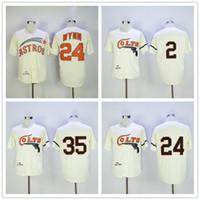 Wholesale red hot fox - Hot sale Men's Houston Colts Vintage movie Baseball Jerseys 35 Joe Morgan 2 Nellie Fox 24 Jimmy Wynn Cream 1964 Turn Back retro Jerseys