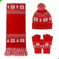 I guanti caldi del cappello della sciarpa delle donne di inverno scaldano i  cappelli casuali morbidi di Natale delle ragazze della signora di modo  della ... b4e5b70dc4db