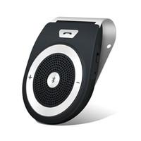 handsfree bluetooth автоответчик оптовых-Автомобильный комплект Bluetooth HandsFree Wireless Motion AUTO POWER ON Громкоговоритель Модернизированный динамик Аудио приемник Sun Visor Музыкальный плеер Адаптировать