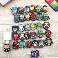 yeni ücretli telefon toptan satış-2018 yeni Gute Çok Desenler Karikatür USB Kablosu Kulaklık Koruyucu Kulaklık Cep Telefonları Tabletler Için Kablo Hattı Hattı Tasarrufu Kablosu