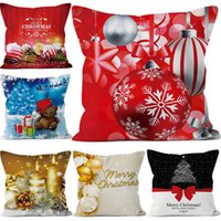 Wholesale claus case resale online - Christmas Pillowcases cm Santa Claus Tree Pillow Cover Cushion Cover Decor Pillow Case Styles Christmas Decor Xmas Gift MMA1064