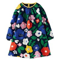 Wholesale jerseys for girls resale online - Hot Baby Girls Dresses Long Sleeve Cotton Princess Dress Spring Autumn Casual Kids Dresses for Girls Jersey Clothing Children Clothes