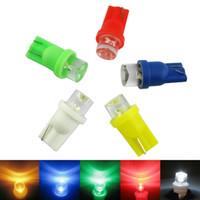 194 светодиодный цвет лампы оптовых-Оптовая авто Автомобиль 5-Цвет T10 194 168 1-LED вогнутый LED Клин база приборной панели светодиодные лампы #3167
