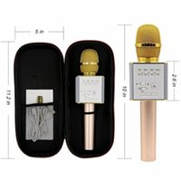 Wholesale Mp3 Tracks - Q7 Q10S Q9 Wireless Karaoke Microphone Bluetooth Speaker Track Dimensional Sound Voice Change Smartphone Karaoke Microphone