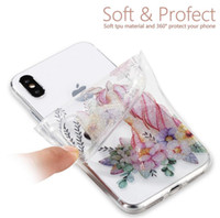 Wholesale flashing paint - Phone shell high through flash powder mobile phone soft shell HD painting burst models for iPhone and samsung