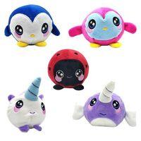 Wholesale plush penguin toys online - 5 Styles cm Penguin Unicorn Squishy Slow Rising Foamed Stuffed Plush Doll Kids Squishamals Xmas Toys Novelty Items CCA10621