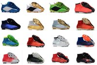Wholesale Boys Medium - High Top Mens Kids Soccer Shoes Mercurial CR7 Superfly V FG Boys Football Boots Magista Obra 2 Women Youth Soccer Cleats Cristiano Ronaldo