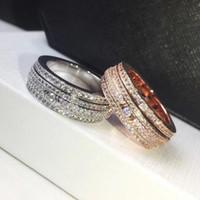 ingrosso anelli in acciaio inox titanio 316l in acciaio inox-Anello in cristallo di cristallo stellato in acciaio al titanio 316L, oro rosa / metallo color argento