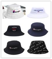 головные уборы для мужчин оптовых-Высокое качество мода Мужчины Женщины горячий чемпион ведро шляпа Марка открытый Boonie Cap унисекс летний пляж шляпа Бесплатная доставка