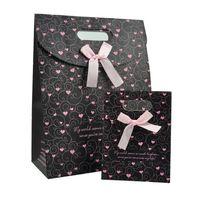 Wholesale custom die cuts - trendy style wedding paper candy bag with bowknot custom printed kids birthday gift bags die-cut handle