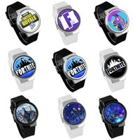 Wholesale electronic children silicone watch - Game Fortnite cartoon watch 2018 new fashion teenager party wrist watches big children Jewelry 63 colors Electronic watches C4756
