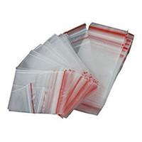 ingrosso sacchetti di blocco ziplock in plastica-Hot 100Pcs Ziplock Lock con cerniera Sacchetti trasparenti in plastica Zip 5 * 7CM