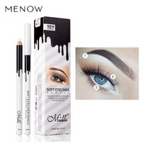 Wholesale cheap matte makeup - Eye Liner Color Cheap Makeup High Quality Menow Brand Long Lasting Pigment Waterproof White Eyeliner Pencil Lot