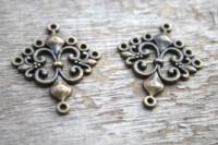 Wholesale antique sword pendants for sale - Group buy 10pcs Antique Bronze Lovely Cross Sword fleur de lys chandelier Connector Link Charm Pendant x35mm