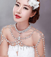 Wholesale Shoulder Chain Accessories - Stunning Bridal Wraps 2018 Cheap Shoulder Chain Hot Sale Fashion Noble Crystal Bridal Necklace Temperament Beading Wedding Accessories