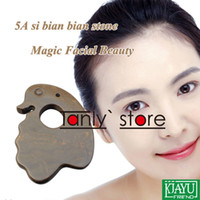 Hot selling wholesale & retail 5A grade Original Si Bin Bian-stone massage guasha plate magic facial beauty kit duck shape 75x8mm