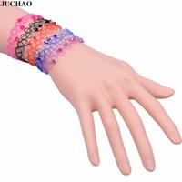 tätowierung charme großhandel-JUCHAO Boho Armbänder für Frauen Kristall Perlen Stretch Tattoo Fisch Linie Charme Armband Weiblichen Schmuck Armbanden Voor Vrouwen
