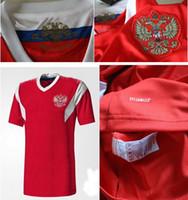 xxl russisch großhandel-Neue 2018 WM Russland Fußball Jerseys 1819 rote Heimat ARSHAVIN KERZHAKOV PAVLYUCHEN DZAGOEV KOMBAROV 22 DZYUBA IONOV Russische Fußball-Shirt