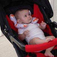 almohada de cuello suave al por mayor-Venta caliente del bebé recién nacido cochecito Almohada Dormir la almohadilla suave de seguridad del coche de bebé Cuello Almohada de Protección Infantil