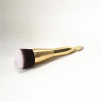 Wholesale makeup spatulas - TT-Series The foundation brush & spatula - Double-ended BB Cream Contour Liquid Foundation brush - Beauty Makeup Brushes Blender