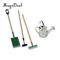 Wholesale miniature garden tools for sale - 3 Pieces Garden Tools Tin Metal Watering Can for Dollhouse Miniature Acc Garden Scenery Model Children Kids Toys