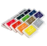 Wholesale ink pad stamps resale online - Multi Colors DIY Work Oil Gradient Stamp Set Big Craft Ink Pad Inkpad Craft Paper SN1340