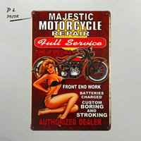 Wholesale Iron Art Car - DL- the garage wall decor pin up poster metal sign car and motor man cave sign