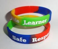 sterling silber mexikanischen armbänder großhandel-Benutzerdefinierte Person Design Print inspirierende Logo Text Print Günstige Motivation Armbänder Armband für Förderung Geschenk