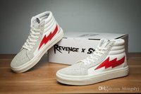 Wholesale Creamy White - Revenge X Storm Old Skool Training Sneakers BEIGE Creamy-white FS103 Mens Womens Casual Skate Shoes Retro KANYE Sports Running Boots