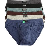 venta de bikini hombre al por mayor-Nueva llegada Solid Briefs Factory Direct Sale 4pcs / Lot Mens Brief Cotton Mens Bikini Underwear Pant para hombres Sexy Underwear