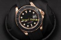 ingrosso braccialetto di gomma per orologio d'oro-