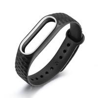 многоцветный силиконовые часы группы оптовых-New 1pc 9 Color Replacement Silicone Watch Strap Bracelet Wristband For Xiaomi For Mi Band 2 Original Multi-color Protector ja18