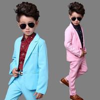 ingrosso abiti da sera blu brillante-Vestito da sera convenzionale del partito del ragazzo del rivestimento del vestito dei bambini del nuovo di colore della caramella del vestito della sfera rosa brillante su misura del bambino