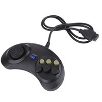 Wholesale joypad buttons online - 6 Buttons USB Wired Joypad Gamepad Black Controller For SEGA MD2 PC MAC Mega Drive Gaming Accessories Portable Remote Control