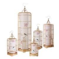 Wholesale Bird Lamps - Creative personality of new Chinese bird cage floor lamps standing staande lamp led nordic floor lamps for living room Vloer