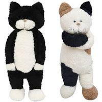 gatos gigantes do brinquedo venda por atacado-Japão Anime Brinquedos De Pelúcia Dos Desenhos Animados de Pelúcia Macia Stuffed Cats Boneca Agradável Presentes para Crianças Amigos Deco 50 cm 70 cm DY50412