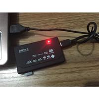 lectores de tarjetas xd al por mayor-Lector de tarjetas de memoria todo en uno Mini Micro M2 MMC XD CF USB externo SD SDHC Lector universal de tarjetas